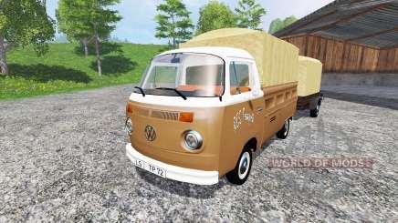 Volkswagen Transporter T2B [trailer] v1.2.1 para Farming Simulator 2015