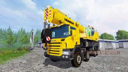 Scania P420 Liebherr LTF 1060 v1.1 para Farming Simulator 2015