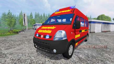 Renault Master [fire service] para Farming Simulator 2015