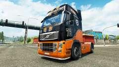 Equipe de corrida da pele para a Volvo caminhões para Euro Truck Simulator 2