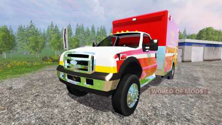 Ford F-350 [fire department] para Farming Simulator 2015