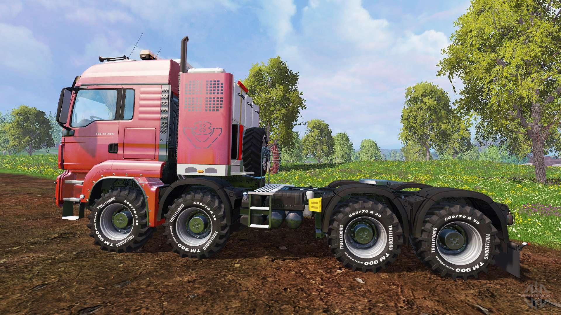 MAN TGS 41 570 8x8 Agrar v2 0 para Farming Simulator 2015