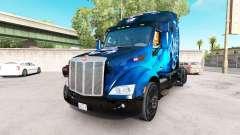 Scorpio Blue da pele para o caminhão Peterbilt para American Truck Simulator