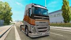 Prata Transportes de pele para a Volvo caminhões para Euro Truck Simulator 2