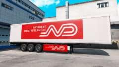 Norbert Dentressangle pele para um trailer para American Truck Simulator