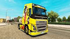 Pele Dragon Ball Z para a Volvo caminhões para Euro Truck Simulator 2