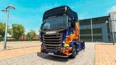 Azul de Fogo para a pele do Scania truck para Euro Truck Simulator 2