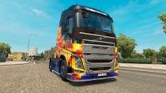 Azul Incêndio pele para a Volvo caminhões para Euro Truck Simulator 2