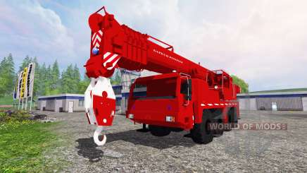 Liebherr LTM 1090 Sapeur Pompiers v1.2 para Farming Simulator 2015