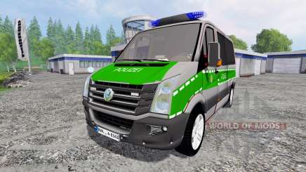 Volkswagen Crafter Bavaria Police para Farming Simulator 2015