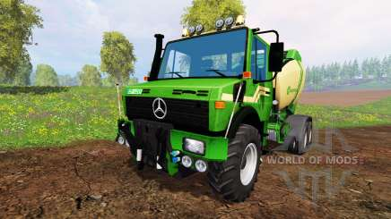 Mercedes-Benz Unimog [Krone round baler] para Farming Simulator 2015