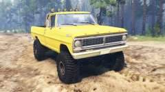 Ford F-250 1972 4x4 para Spin Tires