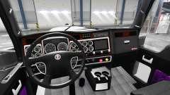 Interior roxo Kenworth W900 para American Truck Simulator