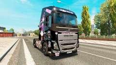 Monster High pele para a Volvo caminhões para Euro Truck Simulator 2