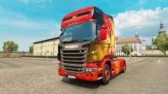 A pele do Manchester United para o trator Scania para Euro Truck Simulator 2