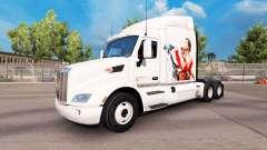 Pele de Rocky Balboa no trator Peterbilt para American Truck Simulator