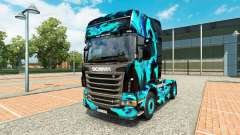 Pele de Fumaça Verde para Scania truck para Euro Truck Simulator 2