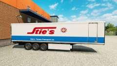 Pele Chiqueiros na traseira de um semi para Euro Truck Simulator 2