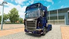 Pele Azul de Fumaça no trator Scania para Euro Truck Simulator 2