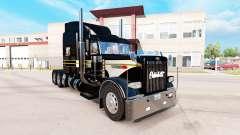 Pele de Prata-preto para o caminhão Peterbilt 389 para American Truck Simulator