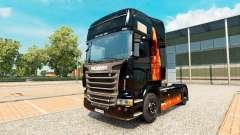 A pele Queima de mulher no trator Scania para Euro Truck Simulator 2