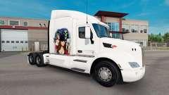 Gangster Menina de pele para o caminhão Peterbilt para American Truck Simulator