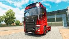 A pele de Preto E Vermelho, para trator Scania R700 para Euro Truck Simulator 2