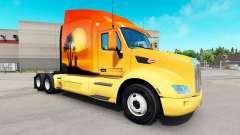 A pele do Sol no trator Peterbilt para American Truck Simulator