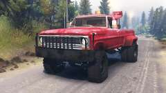 Ford F-200 1970 [Tow Truck] para Spin Tires