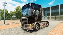 Adesivo de pele Bomba no caminhão Scania para Euro Truck Simulator 2