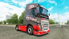 Cinza Vermelho da pele para a Volvo caminhões para Euro Truck Simulator 2