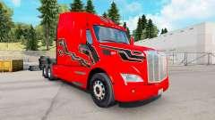 Pele de Carbono Inserções no trator Peterbilt para American Truck Simulator