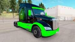 Monster Energy pele para o caminhão Peterbilt para American Truck Simulator