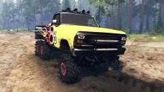 Ford F-100 6x6 custom v2.0 para Spin Tires