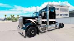 Pele Preto-e-Branco no caminhão Kenworth W900 para American Truck Simulator