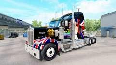 Pele Rainha no caminhão Kenworth W900 para American Truck Simulator
