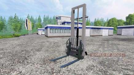 Montado elevador hidráulico para Farming Simulator 2015