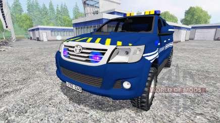 Toyota Hilux [gendarmerie] para Farming Simulator 2015