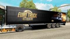 Uma coleção de skins para reboques para Euro Truck Simulator 2