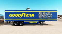 Pele Goodyear em refrigerada com semi-reboque para American Truck Simulator