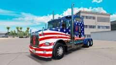 A pele da Bandeira dos EUA trator em um Kenworth T800 para American Truck Simulator