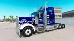 Pele Tio D Logística no caminhão Kenworth W900 para American Truck Simulator