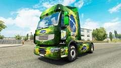 Pele Brasil 2014 para o trator Renault para Euro Truck Simulator 2