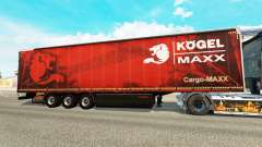 Cortina semi-reboque Kogel maxx para Euro Truck Simulator 2