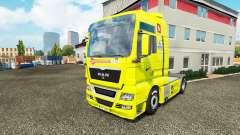 A pele do Arsenal para o trator HOMEM para Euro Truck Simulator 2