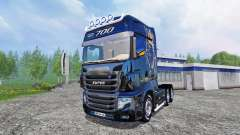 Scania R700 [blue black] para Farming Simulator 2015