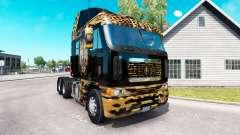 A pele de Onça pintada no caminhão Freightliner Argosy para American Truck Simulator