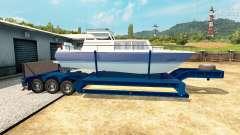 Baixa-quadro de arrasto de barco para Euro Truck Simulator 2