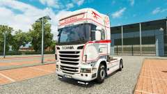 Pele Bart Kroeze no trator Scania para Euro Truck Simulator 2