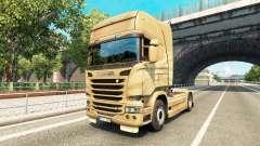 A pele no 50º Aniversário de trator Scania para Euro Truck Simulator 2